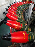 LONDON/UK - 9月12日:充分军械库在HMS贝尔法斯特的壳 免版税库存图片