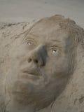 LONDON/UK - 9月12日:在Riv的银行的沙子雕塑 图库摄影