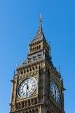 LONDON/UK - 2月18日:大本钟看法在2月的伦敦 库存照片