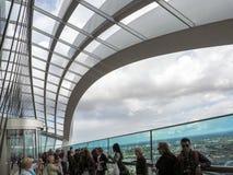 LONDON/UK - 6月15日:天空庭院的看法在6月1日的伦敦 免版税图库摄影