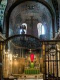 LONDON/UK - 8月15日:威斯敏斯特大教堂内部看法我 免版税图库摄影