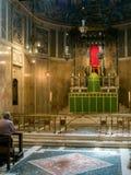LONDON/UK - 8月15日:威斯敏斯特大教堂内部看法我 库存照片