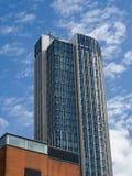 LONDON/UK - 9月12日:现代建筑学在市Lo 图库摄影