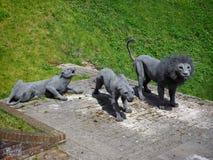 LONDON/UK - 6月15日:肯德拉匆碌的狮子和豹子在T 库存图片