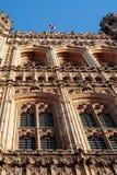 LONDON/UK - 2月13日:议会被日光照射了议院的看法  库存图片