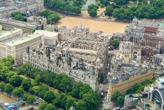 London, UK. Aerial view of Whitehall Gardens and Govern Headquar Royalty Free Stock Photos