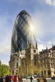 LONDON UK - APRIL 24, 2014: Ättiksgurkabyggnad Arkivfoton