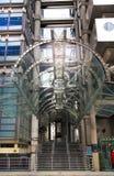 LONDON UK - APRIL 24, 2014: Ättiksgurkabyggnad Arkivfoto