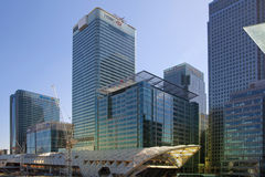 LONDON, UK - APRIL 24, 2014: Building site with cranes Canary Wharf aria, Royalty Free Stock Image