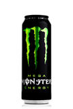 LONDON, UK - APRIL 12, 2017:  A can of Monster Energy Drink on white. Introduced in 2002 Monster now has over 30 different drinks Stock Photography