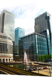 LONDON, UK - APRIL 24, 2014: Canary Wharf DLR docklands station in London Royalty Free Stock Photo