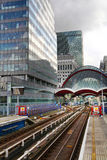 LONDON, UK - APRIL 24, 2014: Canary Wharf DLR docklands station in London Royalty Free Stock Image