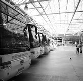 Inside View of London Victoria Coach Station Stock Photo