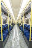 LONDON, UK - APRIL 07: Interior of empty Northern line undergrou Royalty Free Stock Photo