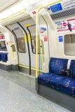 LONDON, UK - APRIL 07: Interior of empty Northern line undergrou Stock Photography