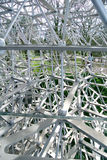 Open day to kew Garden, detail of experimental metal structure Royalty Free Stock Images