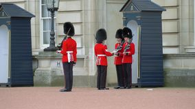 Change of guards at Buckingham Palace. stock footage