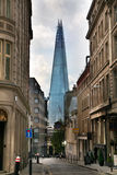 LONDON, UK - APRIL 24, 2014: Shard of glass on the river Thames Royalty Free Stock Photos