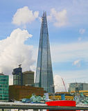 LONDON, UK - APRIL 24, 2014: Shard of glass on the river Thames Royalty Free Stock Photo