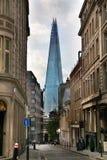 LONDON UK - APRIL 24, 2014: Skärva av exponeringsglas på flodThemsen Royaltyfria Foton