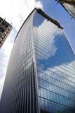 LONDON UK - APRIL 24, 2014: Stad av London en av den leda mitten av global finans, högkvarter för ledande banker Royaltyfri Foto