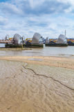 Thames Flood Barrier at low tide Royalty Free Stock Photography