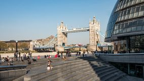 Tower Bridge, City Hall and The Scoop, London royalty free stock photography