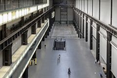 The Turbine Hall of the Tate Modern, museum of modern and contemporary art in London, UK stock image