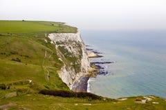 LONDON UK - APRIL 5, 2014: Vit klippasydkust av Britannien, Dover, berömt ställe för arkeologiska upptäckter Royaltyfri Bild
