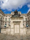 Somerset House, London. LONDON UK - AUG 3: Somerset House on August 3, 2017 in London England. Somerset House is a Neoclassical building on the south side of the stock photos