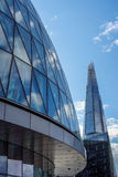 LONDON, UK - AUGUST 22 : City Hall and the Shard in London on Au. Gust 22, 2014 Royalty Free Stock Image