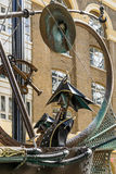 LONDON, UK - AUGUST 22 : Close-up of The Navigators sculpture by. David Kemp in London on August 22, 2014 Royalty Free Stock Image