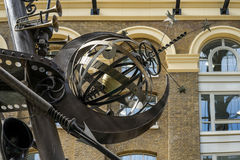 LONDON, UK - AUGUST 22 : Close-up of The Navigators sculpture by. David Kemp in London on August 22, 2014 Stock Photo