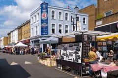 The famous Portobello Road street market in London