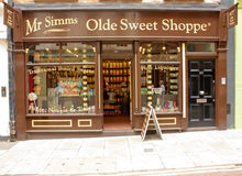 London, Uk - August 17, 2010: outside view of an oldstyle sweet royalty free stock photography