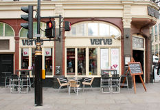London, Uk - August 17, 2010: outside view of Verve pub in Londo Royalty Free Stock Images