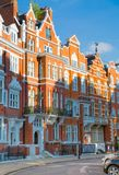 London, UK. Residential aria of Kensington and Chelsea. Cadogan gate with row of periodic buildings. Luxury prop Stock Image