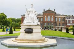 LONDON, UK - August 18, 2017: Statue of Queen Victoria situated. Outside Kensington Palace in London Royalty Free Stock Photo