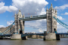 LONDON, UK - AUGUST 22 : Tower Bridge in London on August 22, 20. 14. Unidentified people Stock Images
