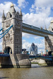 LONDON, UK - AUGUST 22 : Tower Bridge in London on August 22, 20. 14. Unidentified people Stock Photos