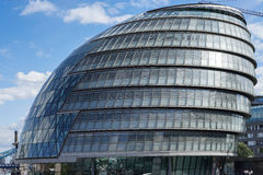LONDON, UK - AUGUST 22 : View of City Hall in London on August 2. 2, 2014. unidentified people Royalty Free Stock Photos