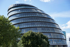 LONDON, UK - AUGUST 22 : View of City Hall in London on August 2. 2, 2014. unidentified people Royalty Free Stock Photo