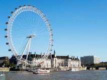 LONDON/UK - AUGUST 15 : View of the London Eye in London on Augu. St 15, 2016 Stock Photo