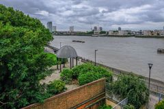 London, UK - August 20, 2017: View of the Mc Dougall Gardens on the Isle of Dogs stock image