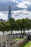 LONDON, UK - AUGUST 22 : View of the Shard from the north bank o Stock Photos