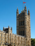 LONDON/UK - AUGUST 15 : View of the Sunlit Houses of Parliament Royalty Free Stock Photos