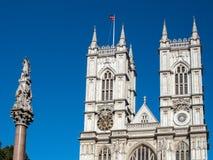 LONDON/UK - AUGUSTI 15: Sikt av yttersidan av den Westminster abben Royaltyfria Foton