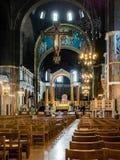 LONDON/UK - 15 AUGUSTUS: Binnenlandse mening van Kathedraal i van Westminster stock afbeeldingen