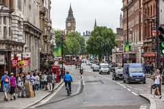 London UK Big Ben in the back from Withehall street-2 Royalty Free Stock Images