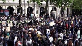 London / UK - 06/13/2020: Black Lives Matter protest during lockdown coronavirus pandemic. BLM protesters attacking EDL members at